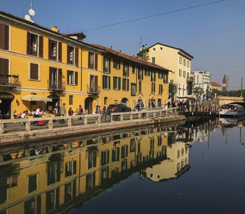 Navigli-Nachbarschaft in Mailand lizenzfreie stockfotos