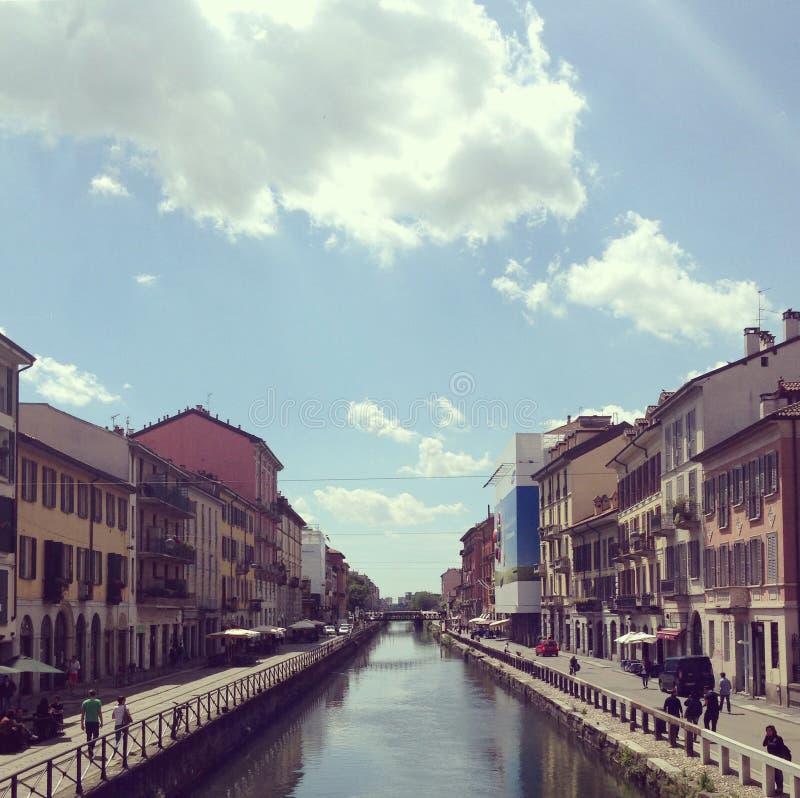 Navigli van Milaan royalty-vrije stock foto's