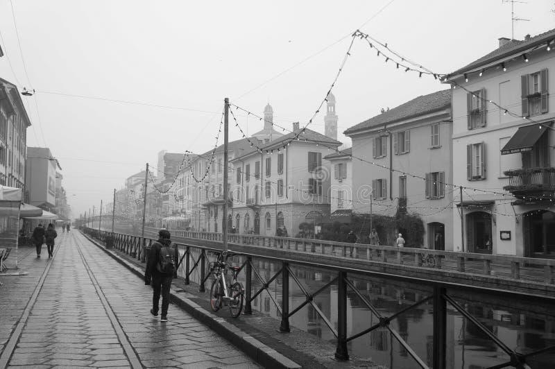 Naviglio de Milão foto de stock
