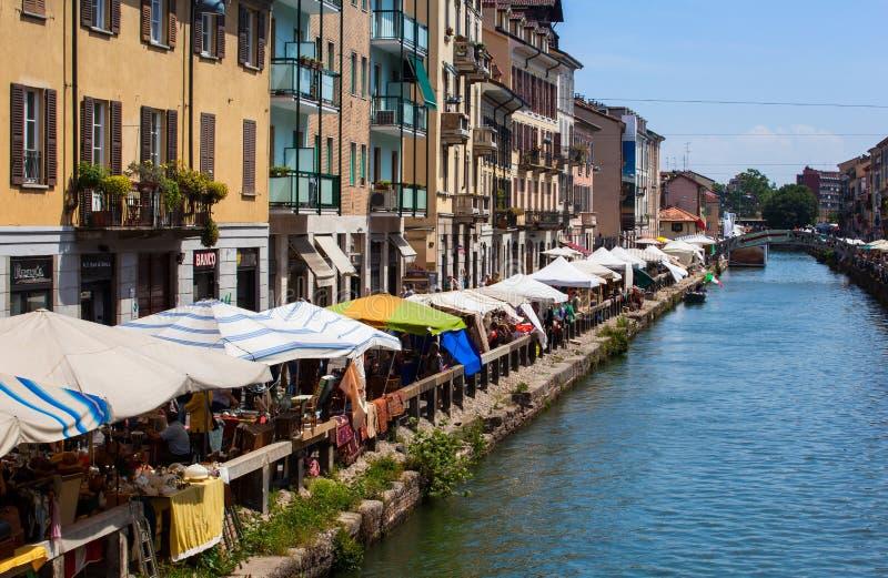 Naviglio, Milaan royalty-vrije stock afbeelding