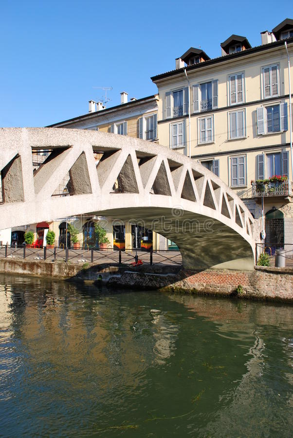 Naviglio in Milan, Italy royalty free stock images