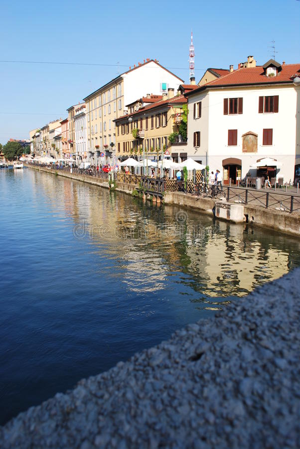 Download Naviglio in Milan, Italy stock photo. Image of reflect - 11313912
