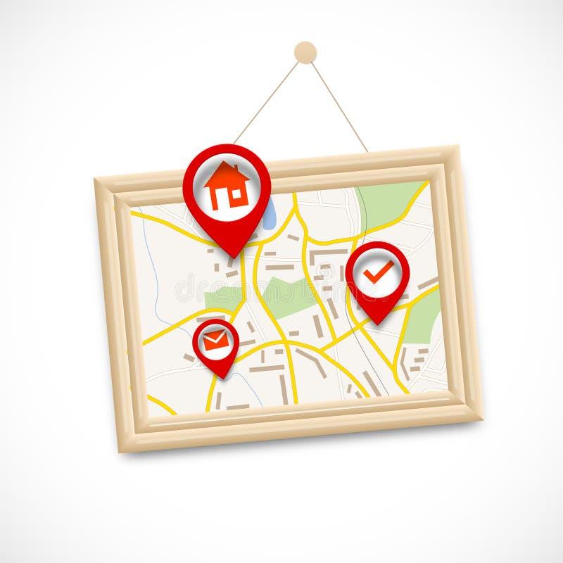 Navigrations-Karte lizenzfreie abbildung