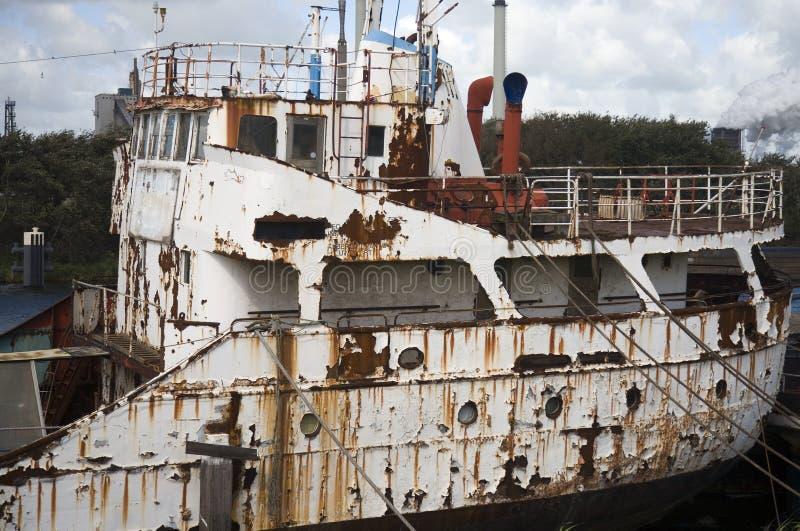 Navio abandonado foto de stock