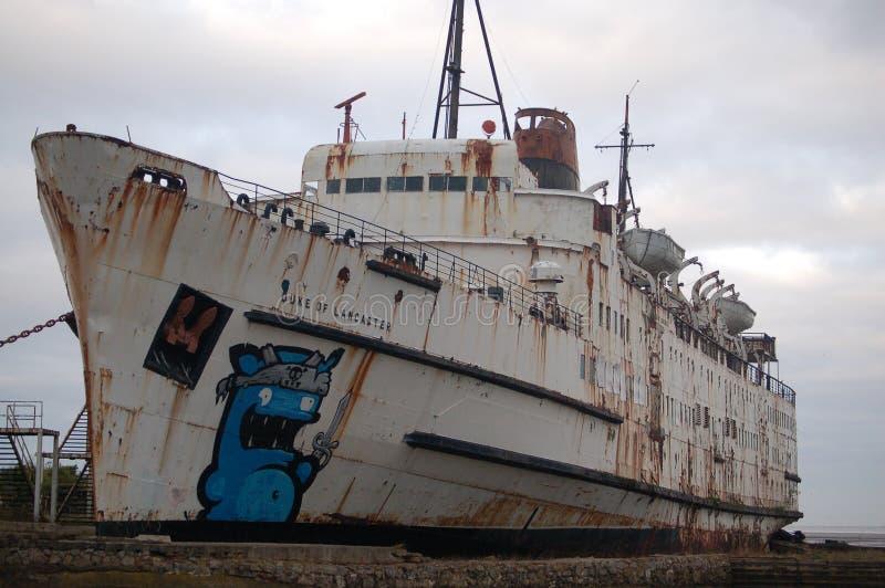Navio abandonado, imagem de stock