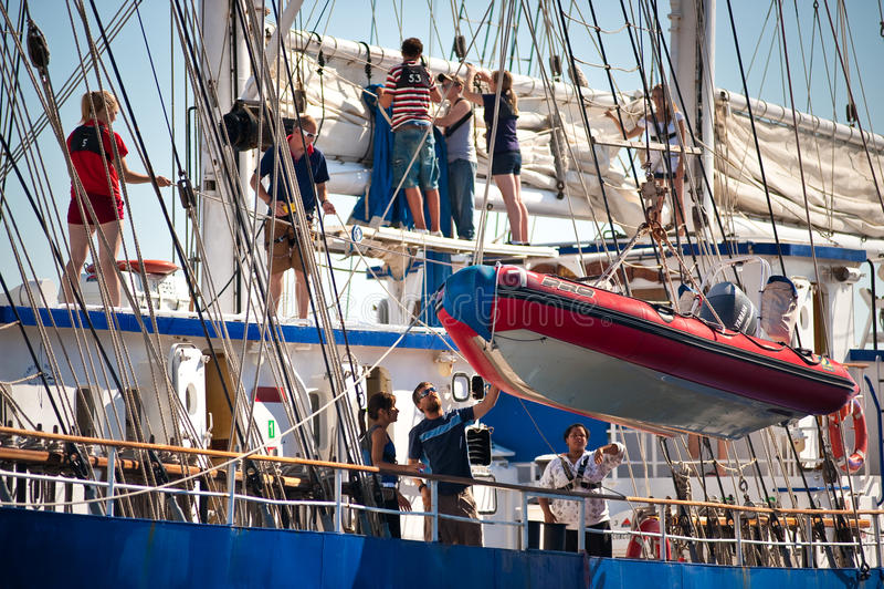 Navio alto Concordia fotografia de stock