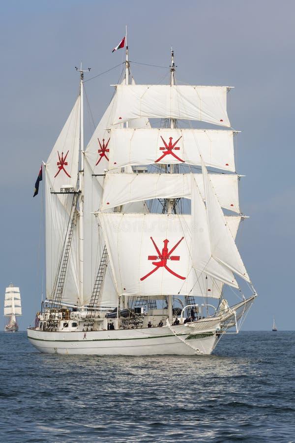 Navio alto Shabab Omã imagem de stock
