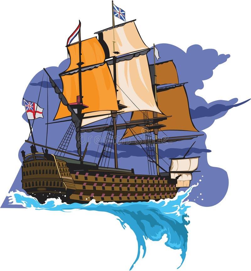 Navio antigo ilustração royalty free