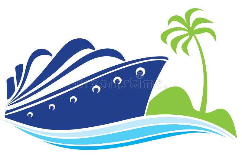 Navio azul ilustração do vetor