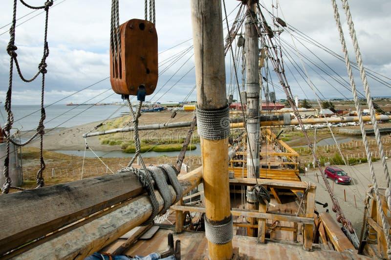Navio da réplica de Magellan - Punta Arenas - o Chile fotografia de stock royalty free