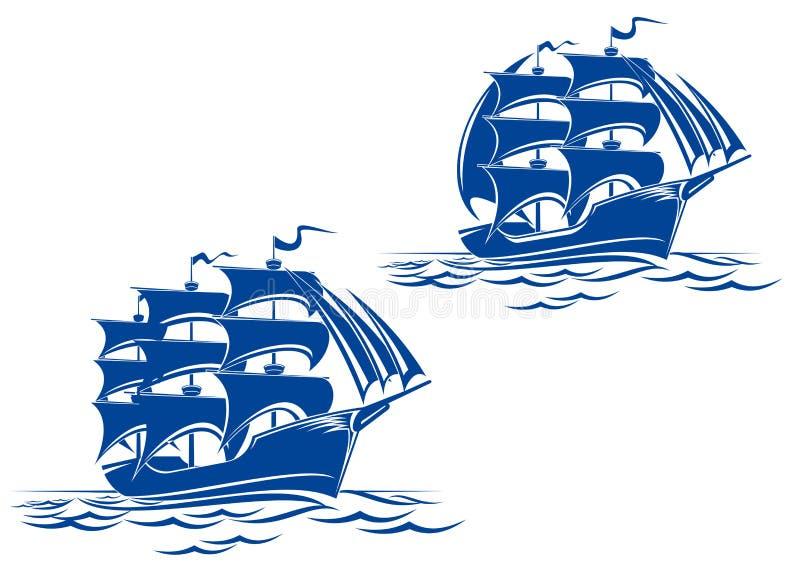 Navio da vela ilustração royalty free