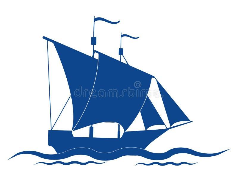Navio da vela ilustração do vetor