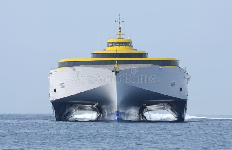 Navio de alta velocidade da balsa fotografia de stock