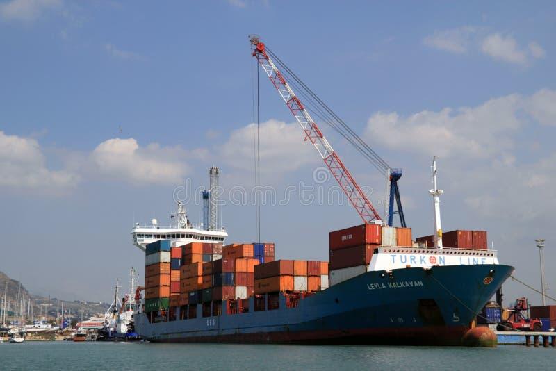 Navio de carga Leyla Kalkavan imagem de stock