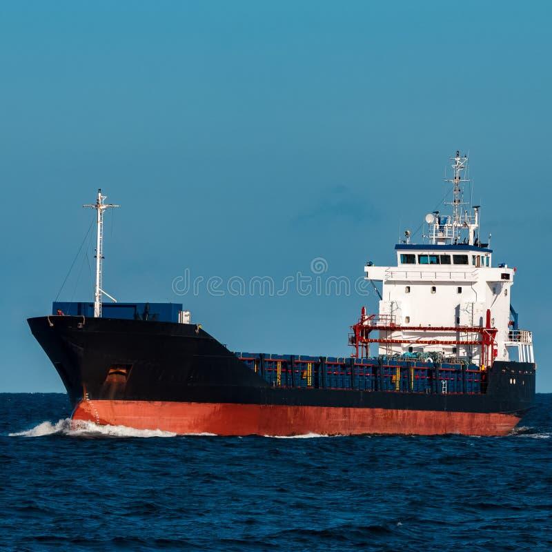 Navio de carga preto fotos de stock royalty free