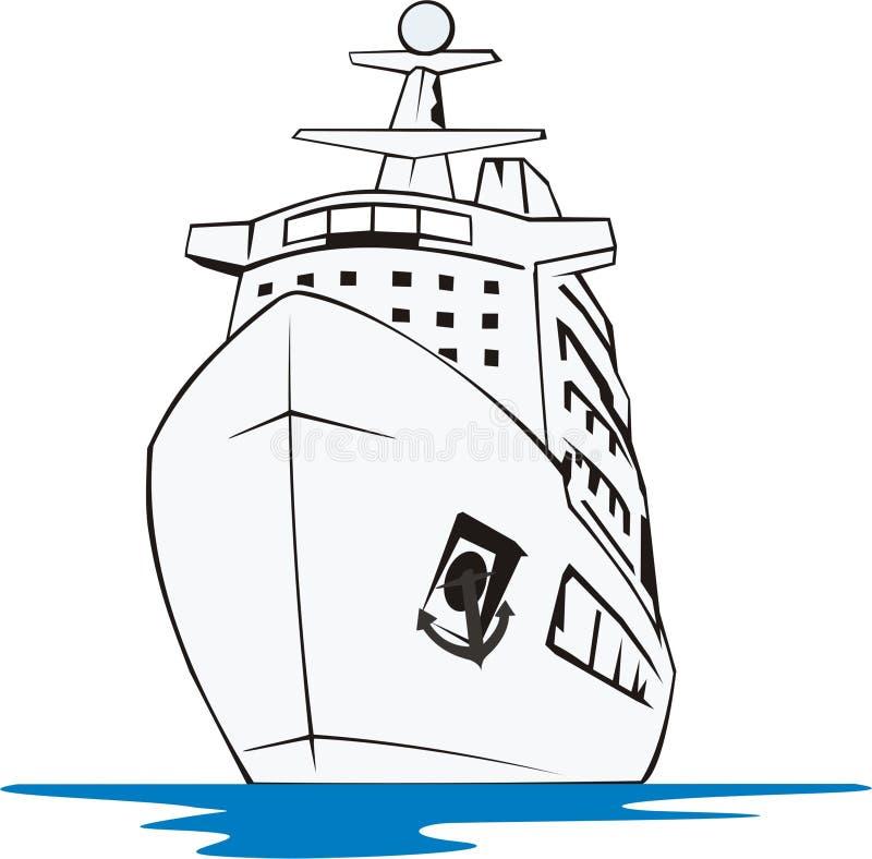 Navio de cruzeiros ilustração royalty free