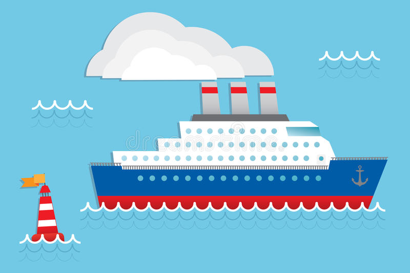 Navio de cruzeiros ilustração do vetor