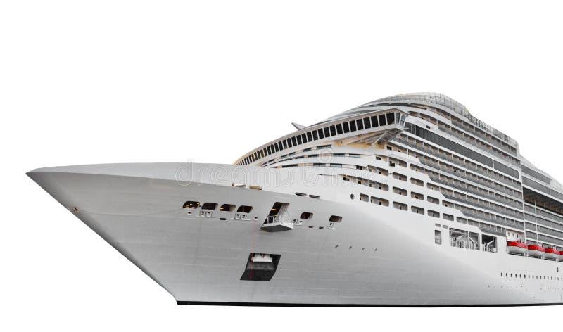 Navio de cruzeiros isolado no branco imagem de stock
