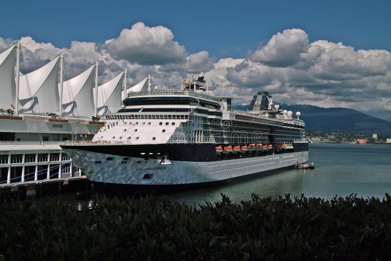 Navio de cruzeiros, Vancôver BC Canadá imagens de stock royalty free