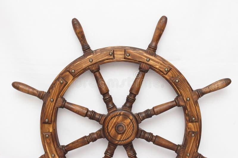 Navio de direção da roda de mão no fundo branco imagem de stock royalty free