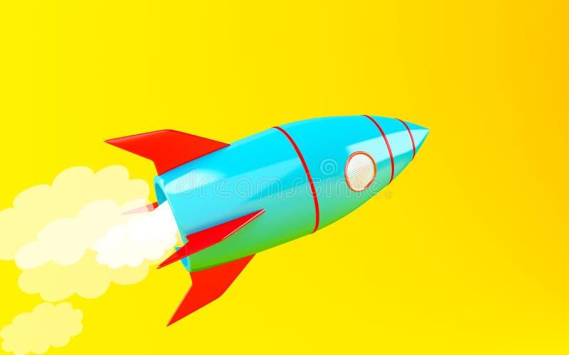 navio de espaço de 3d Rocket ilustração royalty free