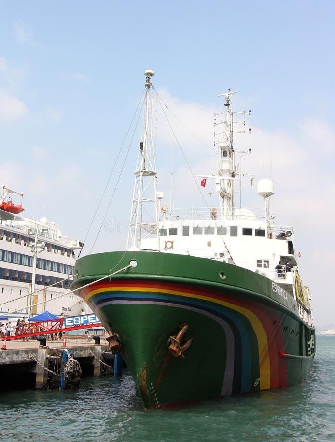 Navio de Greenpeace fotos de stock royalty free