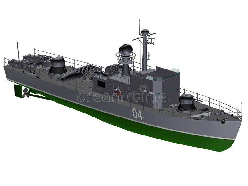 Navio de guerra ilustração stock