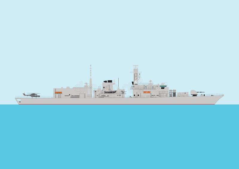 Navio de guerra ilustração royalty free