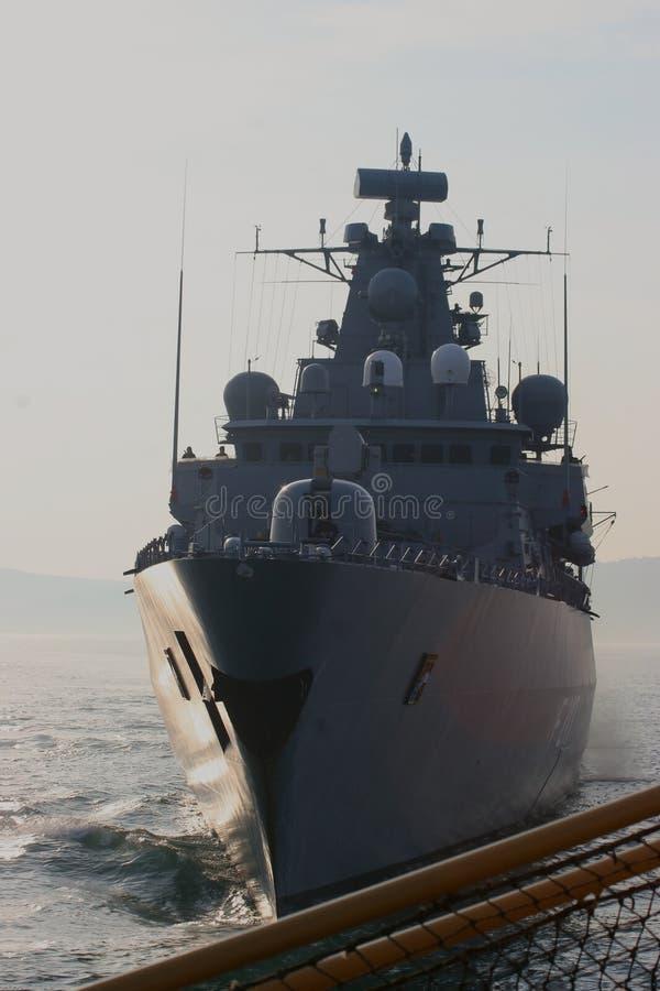 Navio de guerra alemão imagens de stock