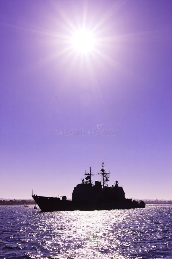 Navio de guerra da marinha dos E.U. imagem de stock