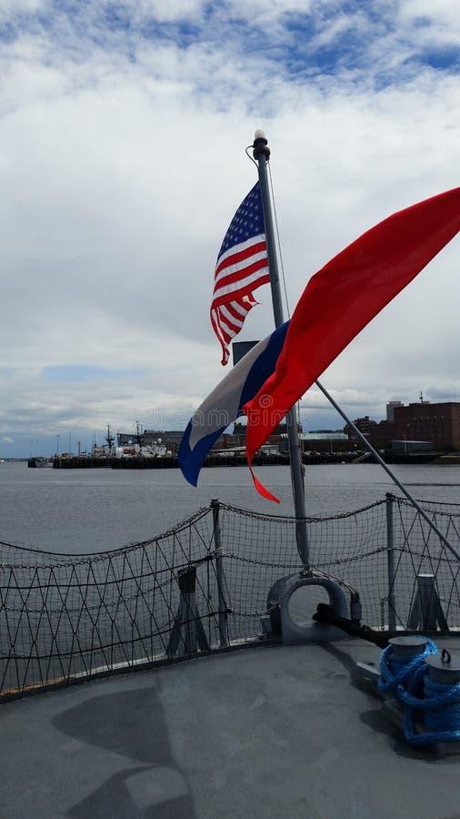 Navio de guerra em Boston imagem de stock royalty free
