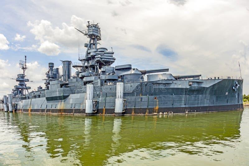 A navio de guerra famosa Texas de Dreadnought foto de stock royalty free
