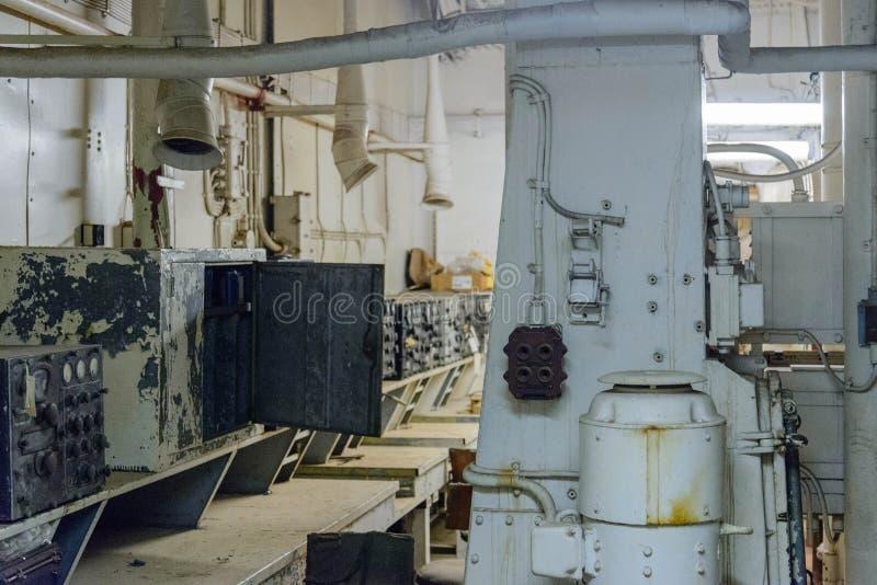 A navio de guerra Texas fotografia de stock