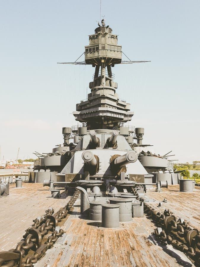 Navio de guerra Texas USS Texas & x28; BB-35& x29; fotografia de stock
