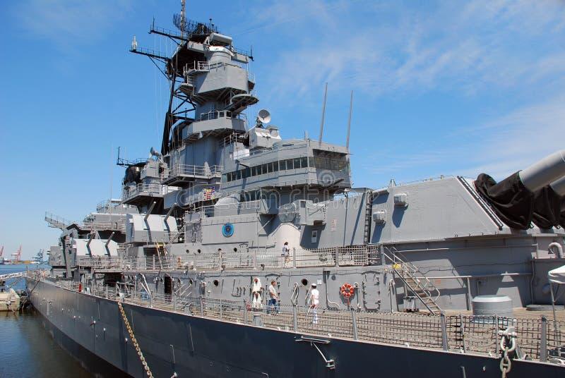 Navio de guerra Wisconsin US Navy fotografia de stock
