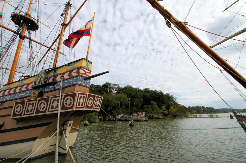 Navio de navigação britânico do pagamento de Jamestown foto de stock