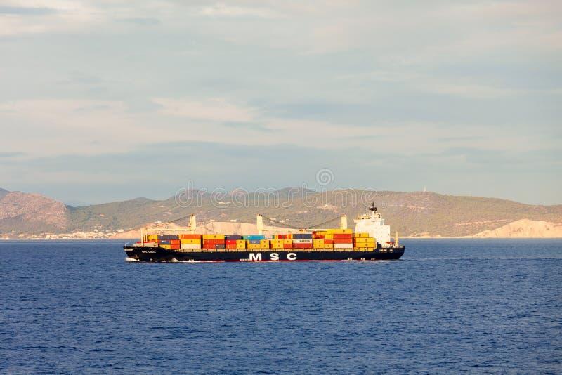 Navio de navio ou de carga de recipiente imagens de stock
