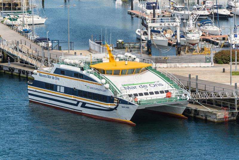 Navio de passageiro março Vigo no porto de Vigo, Espanha fotografia de stock