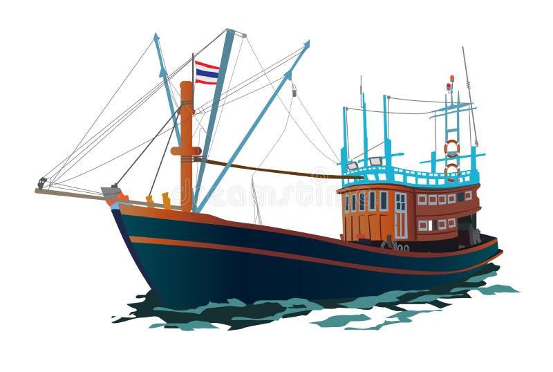 Navio de pesca tailandês imagem de stock