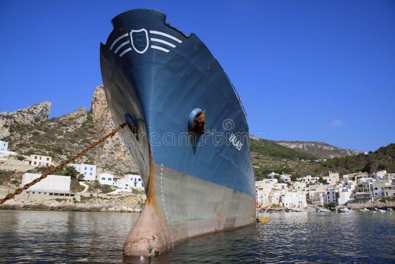 Navio de petroleiro fotografia de stock royalty free