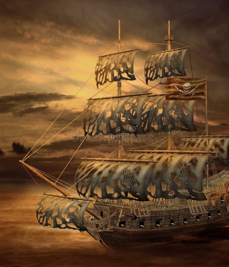 Navio de pirata 2 ilustração do vetor