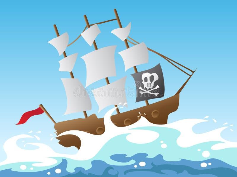 Navio de pirata ilustração do vetor