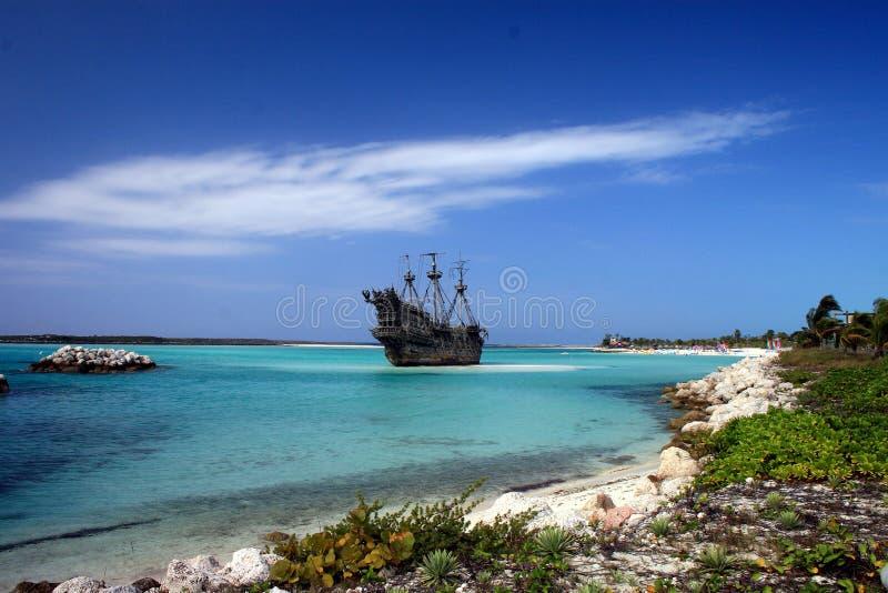 Navio de pirata do Cararibe imagem de stock