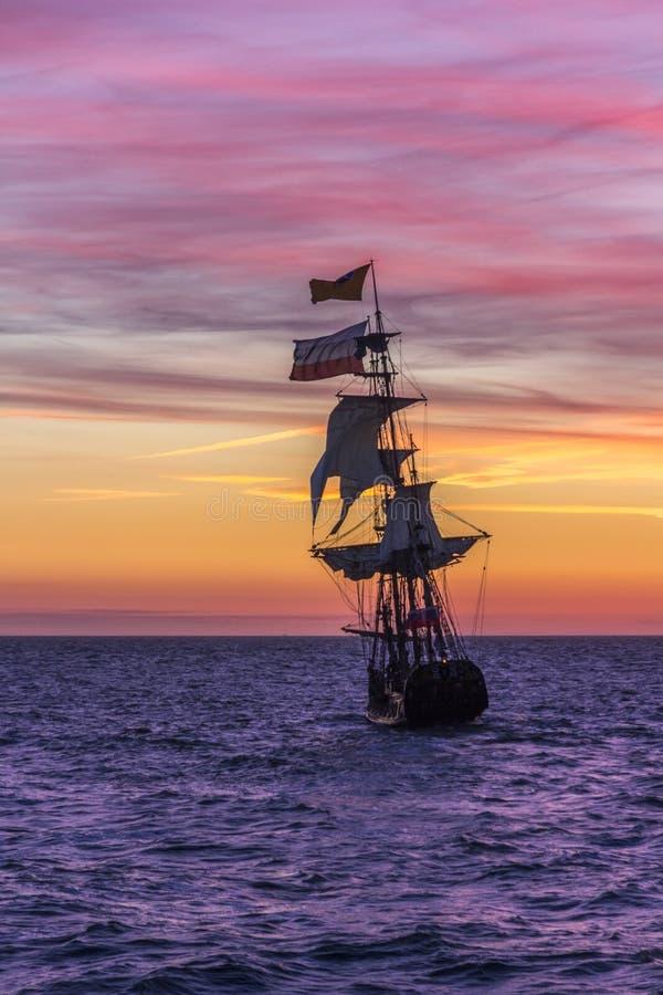 Navio de pirata holandês fotos de stock