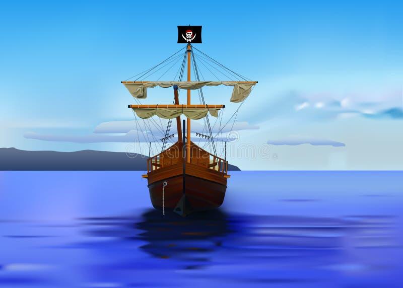 Navio de piratas ilustração do vetor