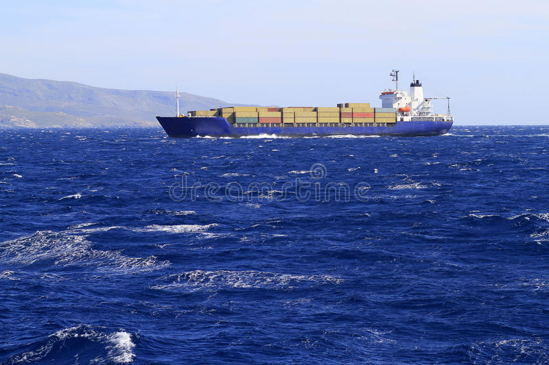 Navio de recipiente imagem de stock royalty free