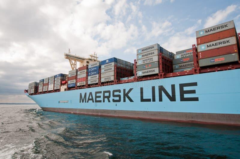 Navio de recipiente de Maersk imagem de stock