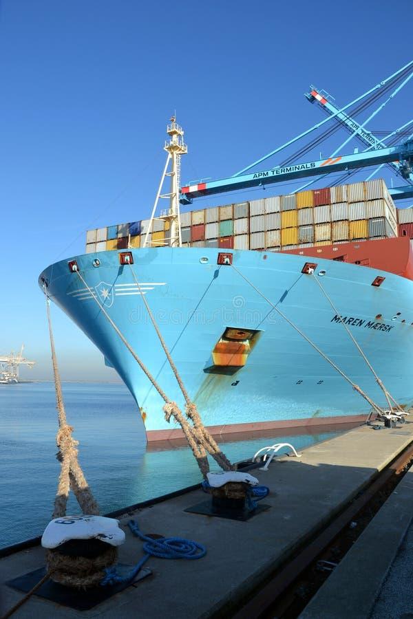 Navio de recipiente Maren Maersk imagens de stock