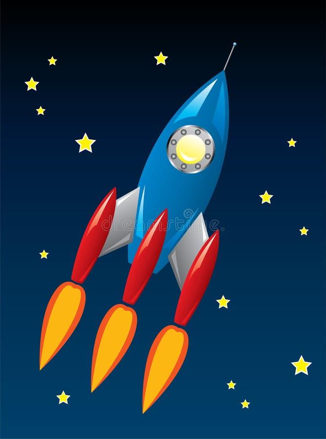 Navio de Rocket no espaço ilustração do vetor