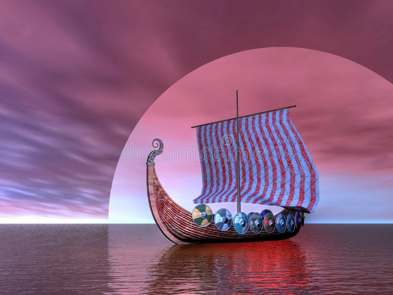 Navio de Viquingue ilustração royalty free